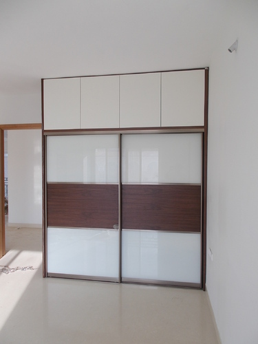 Modern Bedroom Wardrobe Loft Glass Sliding Door Service