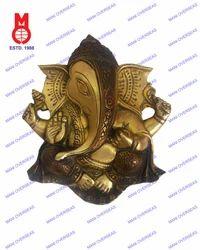 Ganesha Hanging Plate Carved
