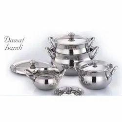 Stainless Steel Dawat Handi Set