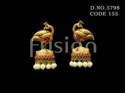 Designer Peacock Pearl Earring