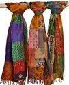 Indian Kantha Embroidered Dupatta