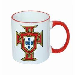 Rim Handle Mug Red
