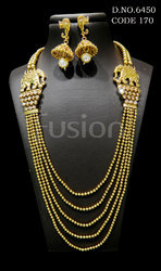 Traditional Elephant Chain Necklace Set