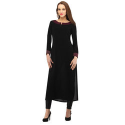 Cottinfab Solid Women's Straight Kurta