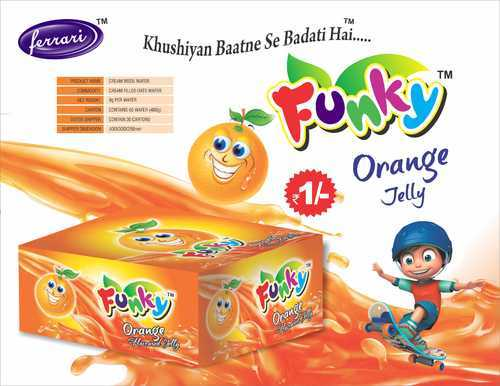Funky Orange Jelly Candy