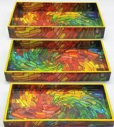 Wood/ Resin Printed Trays