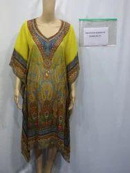 Yellow Digital Printed Kaftan