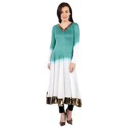 Ira-Soleil-White-Green-Dip-Dyed-With-Copper-Lace-Viscose-