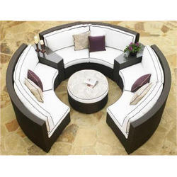 Wicker Living Room Sofa