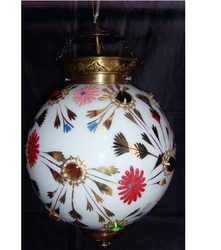 Painted Glass Lamp