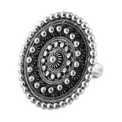 Victorian Style 925 Sterling Silver Ring Handmade