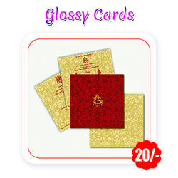 Multi Colors - Wedding Cards(Glossy - A5 Size/ 300 gsm)