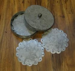 Galvanized Coasters With Lid