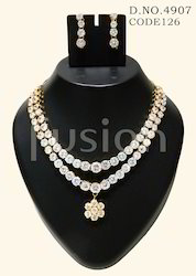 American Diamond Indian Wedding Necklace Set