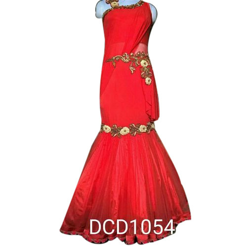 08480432ea4 Ladies Gown - Ladies Fish Cut Saree Gown Manufacturer from Delhi