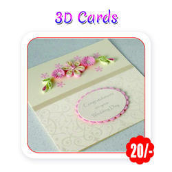 Multi Colors - Wedding Cards( 3D - A6 Size/ 300 gsm)