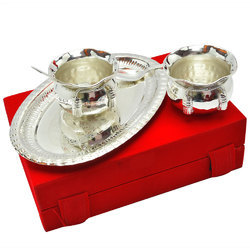 Wedding Gift Silver Plated Handi Bowl Set (EPNS)