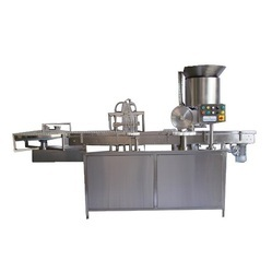 Automatic Two Head Vial Filling & Rubber Stoppering Machine