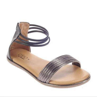 6bac606a5b16 Women Lifestyle Flat Sandals - Cleo Black Lifestyle Flat Sandal ...