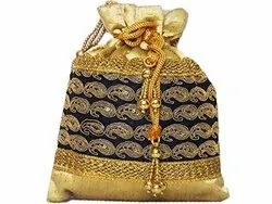 Jari Work Potli Bag