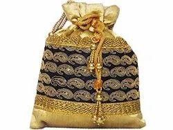 Jari Work Potli Bag
