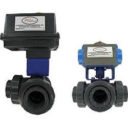 Series 3PBV Automated Three-Way Plastic Ball Valve