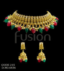 Traditional Indian Wedding Polki Necklace Set