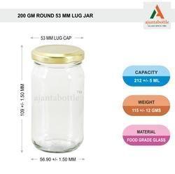 250 Gm Jam Jar Round