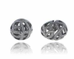 925 Silver Filigree Bead Finding