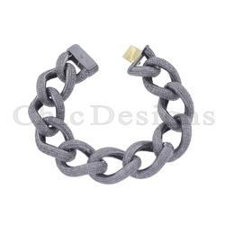 Natural Pave Diamond Chain Bracelet