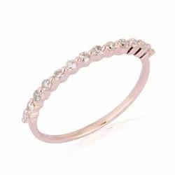 9K Gold Designer Half Eternity Band Ring
