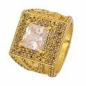 Gold Plated Zircon Ring