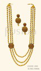 Traditional Pearl Beaded Rani Haar Necklace Set