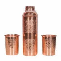Copper Bottle Glass Gift Set