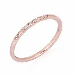 Pave Natural Diamond Half Eternity Band Ring