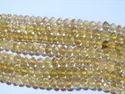 Lemon Topaz Faceted Rondelle Bead Strands