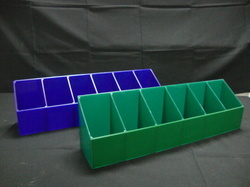 Acrylic Drug Tray Trolley Bins