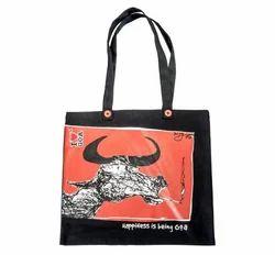 Black Cotton Promotional Bag