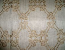 Designer Embroidered Linen Fabric