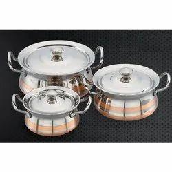 Copper Line and Copper Designer Lexco Serving Bowl Set