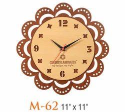 Wooden Flower Wall Clock