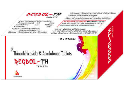 Thiocolchicoside 4 Mg  Aceclofenac 100 Tablets