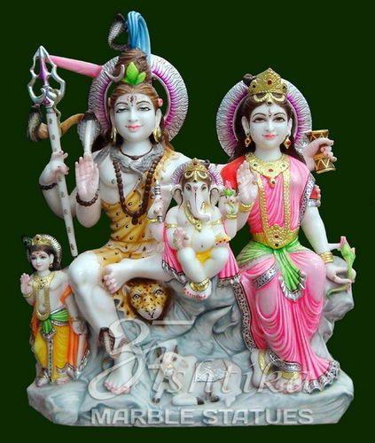 Marble Shiv Parivar Statue Marble Shiva Parivar Statue