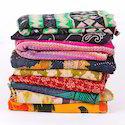 Vintage Lot Kantha Quilt Throw Bedspread Handmade Blanket
