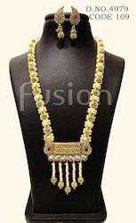 Antique Gold Toned Necklace Set