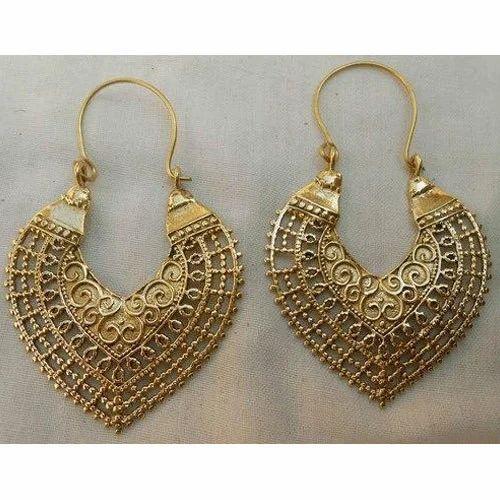 Handmade Brass Earring