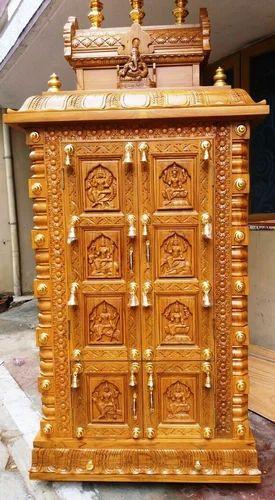 Wooden Pooja Mandapam Divine Teak Wood Hand Carved