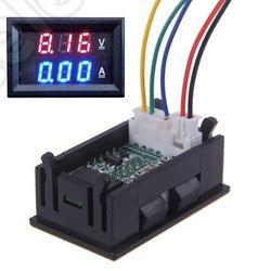 Digital Voltmeter Ammeter DC 0-100V 10A Monitor Panel