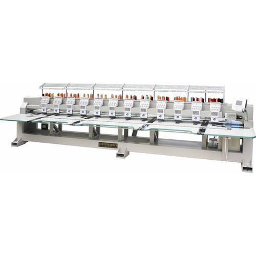High Speed Mix Taping Cording Flat Embroidery Machine