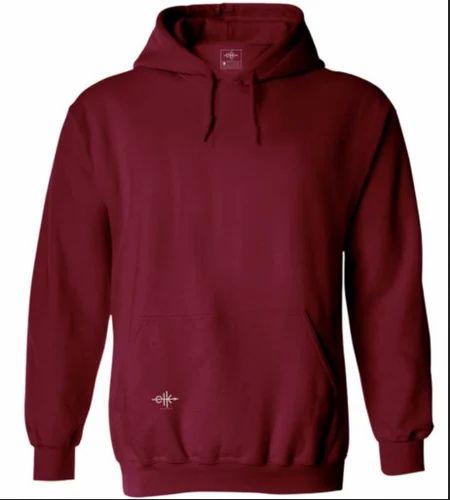 47f47ad7 Men Hoodies Sweatshirts - Men's Cotton Hoodie Maroon Ecommerce Shop / Online  Business from Thiruvananthapuram